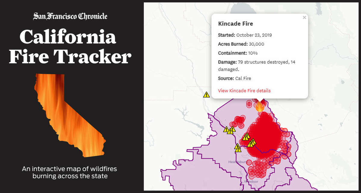 California Fire Tracker: Wildfire map for Northern, Central ...
