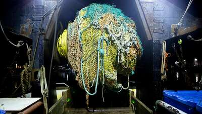 The trawling net on the Pioneer