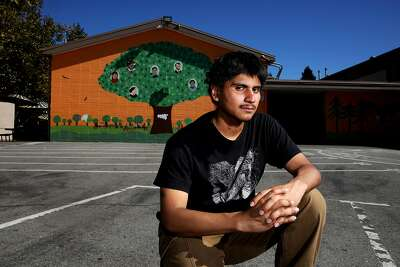 Daniel Casillas, 22, returns to Selby Lane Elementary School/Adelante Spanish Immersion School in Redwood City. Daniel spent more than two years in custody, starting at 13 after he wrote on a wall at the school with a permanent marker.