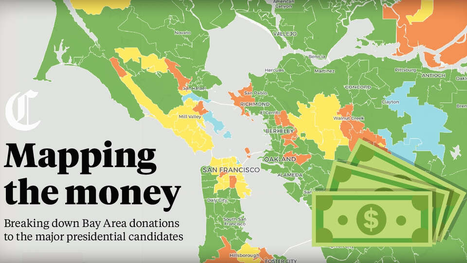 Breaking down how the Bay Area donated to major presidential candidates