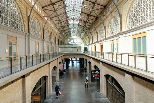 The Ferry Building is mostly empty on March 19, 2020 in San Francisco, California.