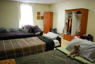 A photograph of a bedroom inside Sequel's Clarinda Academy in Iowa.