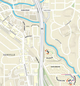 The positions of Arboleda, Maka and Muller are shown at the bottom right of the map on Brookside Dr. near Princeton Lane.