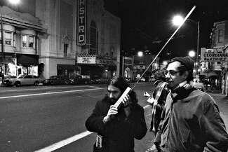 The gay civilian patrol communicating with walkie-talkies
