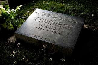 The grave of Gerald Cavanagh at Holy Cross Catholic Cemetery in Colma.