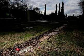 Jae Stevens's grave at Memory Gardens Cemetery in Concord.