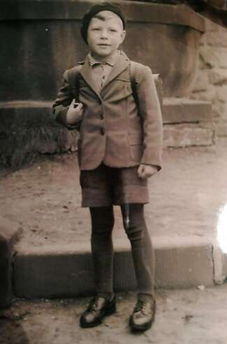 Klaus Christmann as a child