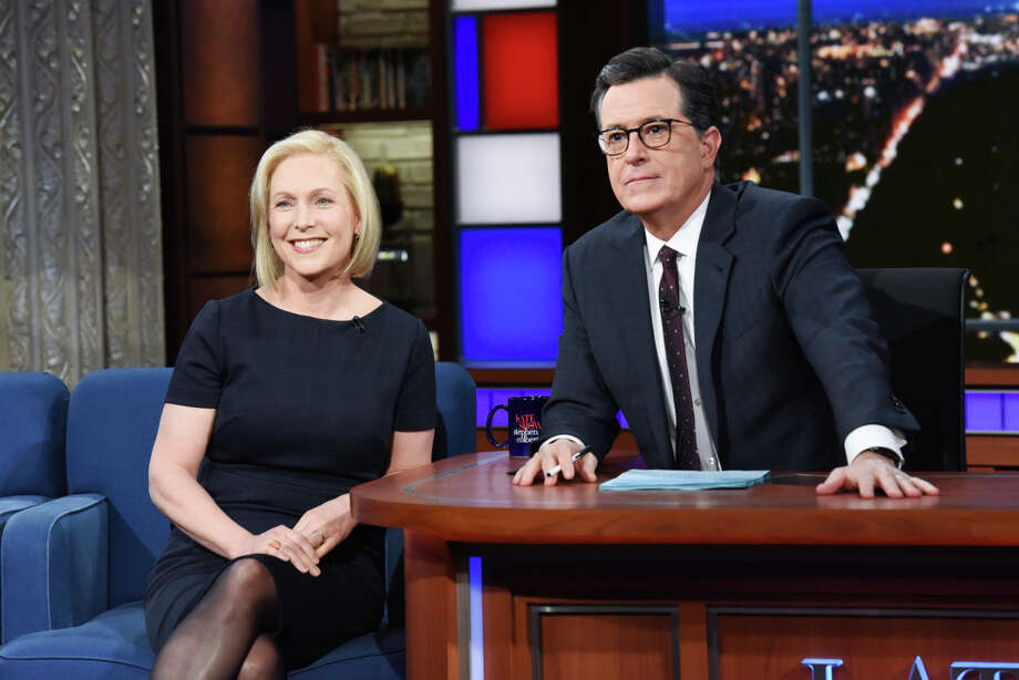 "U.S. Sen. Kirsten Gillibrand announced her plans to run for president in 2020 on ""The Late Show with Stephen Colbert"" on Tuesday, Jan. 15, 2019, in New York City. Photo: Provided By CBS / Ã?©2019 Scott Kowalchyk/CBS Broadcasting Inc. All Rights Reserv"