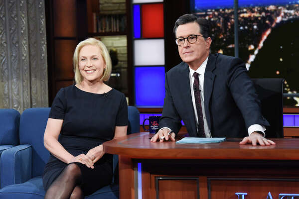 "U.S. Sen. Kirsten Gillibrand announced her plans to run for president in 2020 on ""The Late Show with Stephen Colbert"" on Tuesday, Jan. 15, 2019, in New York City."