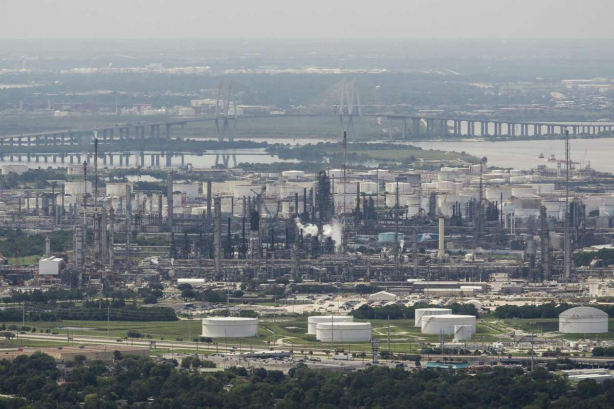 A view of Exxon Mobil's Baytown refining and chemicals complex.