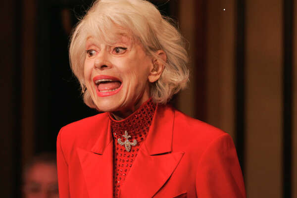 """FILE - In this Oct. 18, 2005 file photo, Carol Channing performs during her one woman show,""""The First 80 Years are the Hardest,"""" at the cabaret Feinstein's at the Regency in New York. Channing, whose career spanned decades on Broadway and on television has died at age 97. Publicist B. Harlan Boll says Channing died of natural causes early Tuesday, Jan. 15, 2019 in Rancho Mirage, Calif. (AP Photo/Richard Drew)"""