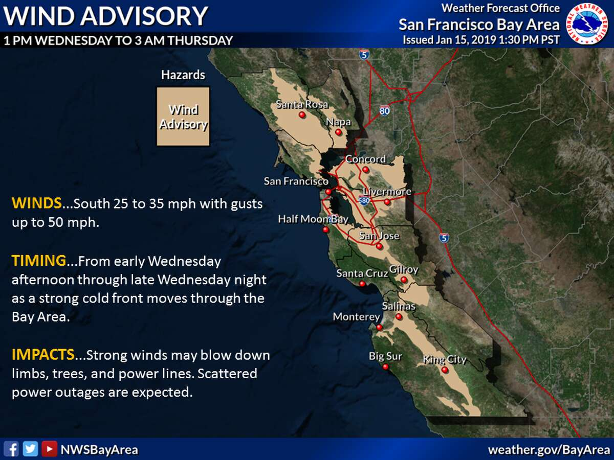 The strongest storm of the year is expected to dump torrents of rain Wednesday and Thursday on the Bay Area and sheets of snow in the Sierra.