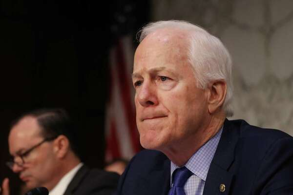 Senate Majority Whip John Cornyn, R-Texas, listens during a Senate Judiciary Committee confirmation hearing for attorney general nominee William Barr in Washington on Jan. 15, 2019.