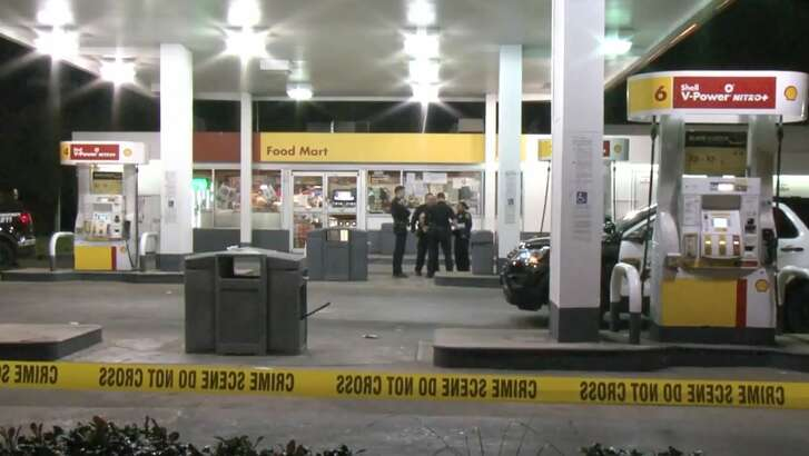 A man was shot at a gas station on the North Freeway near Highway 249 on Tuesday, Jan. 15, 2019.