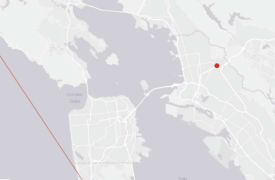 An earthquake with a preliminary magnitude of 3.7 shook the East Bay early Wednesday morning. Photo: USGS