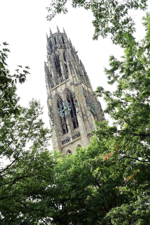 Harkness Tower at Yale University in New Haven photographed on October 2, 2018. Photo: Arnold Gold / Hearst Connecticut Media / New Haven Register