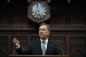Connecticut Gov. Ned Lamont delivers his State of the State address at the State Capitol in Hartford last month.