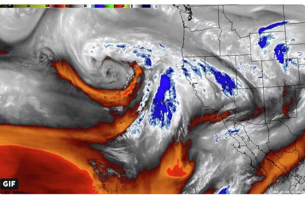"""A so-called """"atmospheric river"""" is poised to slam into Northern California and unleash heavy rain on Jan. 16, 2019."""