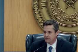 Texas Commission on Environmental Quality Chairman John Niermann speaks at a Jan. 16 hearing where the state agency approved a permit for Kansas City Southern Railway to build a new crude oil and refined products export terminal in Port Arthur.
