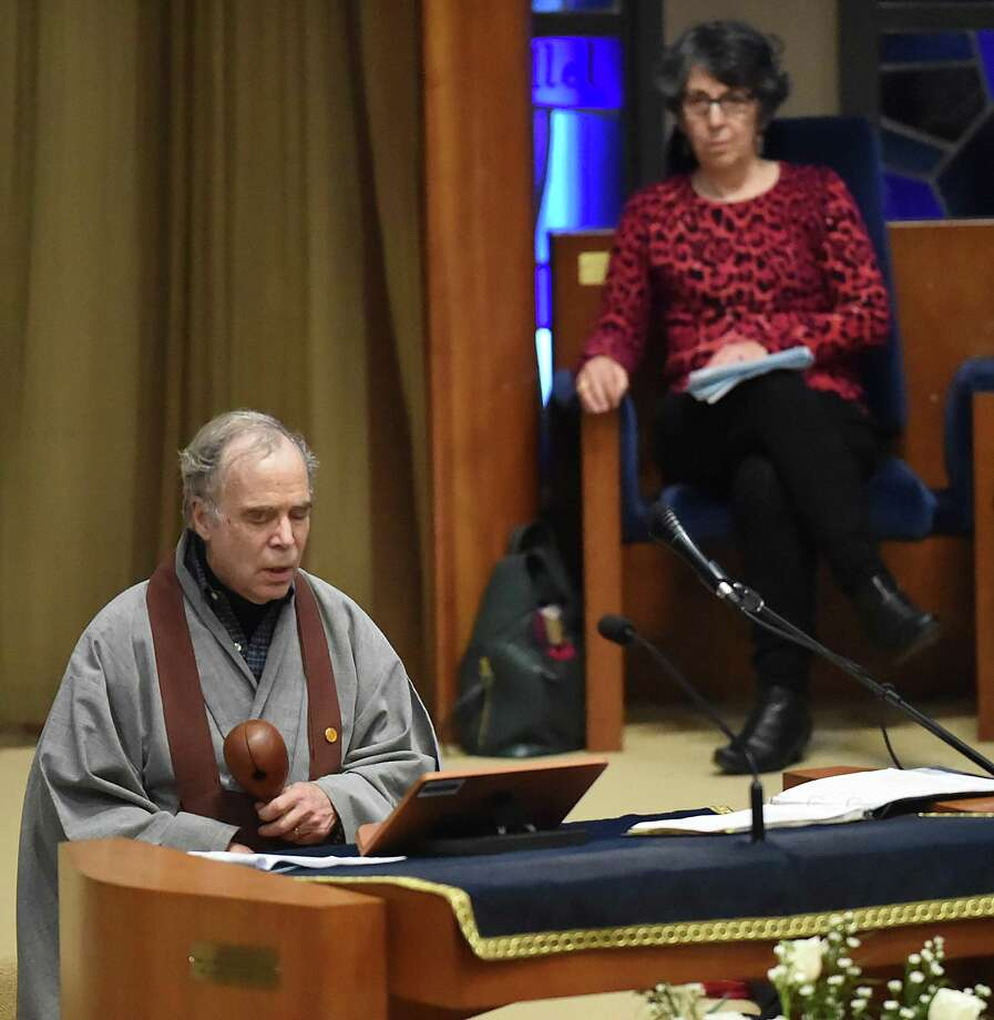 Images from the annual interfaith service in tribute to the Rev. Martin Luther King Jr., in 2018, at Congregation Mishkan Israel in Hamden. Photo: Hearst Connecticut Media File Photo / New Haven Register