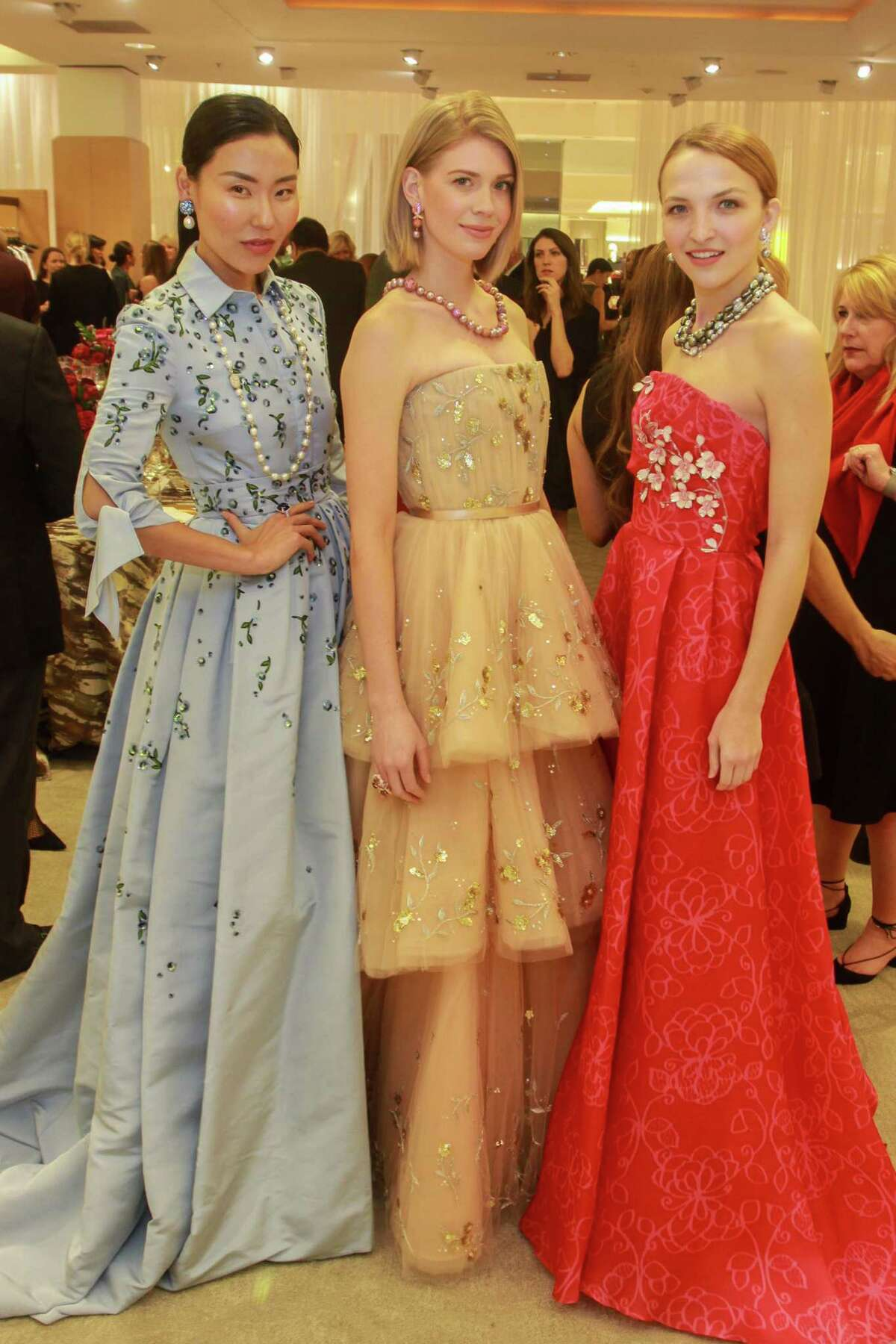 """Models at the Houston Chronicle's Best Dressed """"Hall of Fame"""" Dinner at Neiman Marcus."""