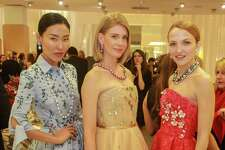 "Models at the Houston Chronicle's Best Dressed ""Hall of Fame"" Dinner at Neiman Marcus."