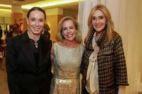 """Sue Smith, from left, Rosemary Schatzman and Jana Arnoldy at the Houston Chronicle's Best Dressed """"Hall of Fame"""" Dinner at Neiman Marcus."""