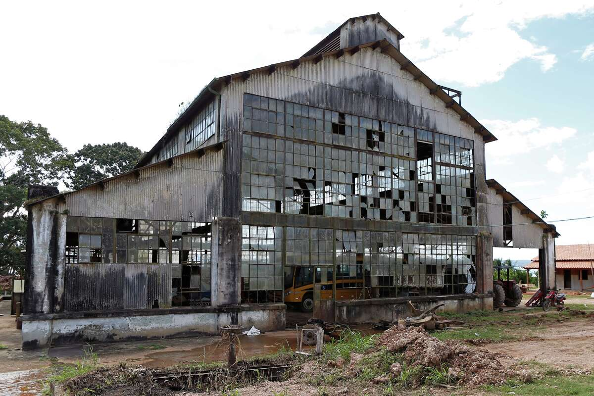 Fordlandia: Henry Ford's abandoned Brazilian factory town A general view of one of the factory buildings in Fordlandia on July 5, 2017 in Aveiro, Brazil. American industrialist Henry Ford negotiated the rights to 2.5 million acres of land from the Brazilian government to establish a rubber plantation. Construction started in 1926 with the hopes of employing 10,000 workers. By 1945 the project was considered a failure and the land was given back to the Brazilian government. (Photo by Joel Auerbach/Getty Images)