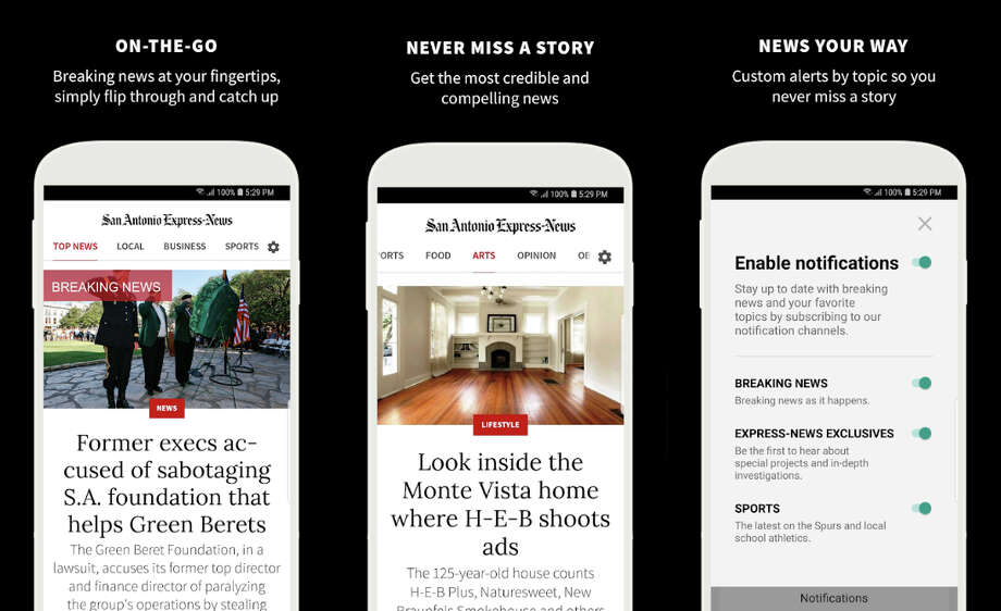 Please take a few minutes to complete this brief survey so we can make our app an even more important part of your reading routine. Photo: San Antonio Express-News
