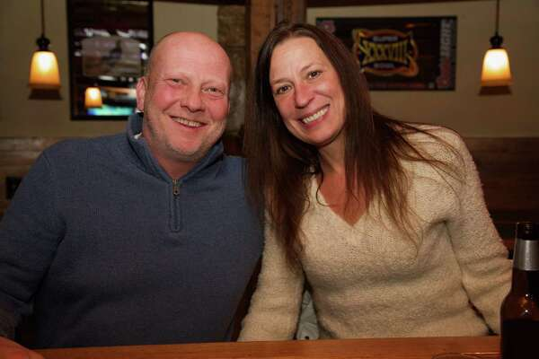 Tim and Deb Pazda enjoy an evening at Finnegan's.