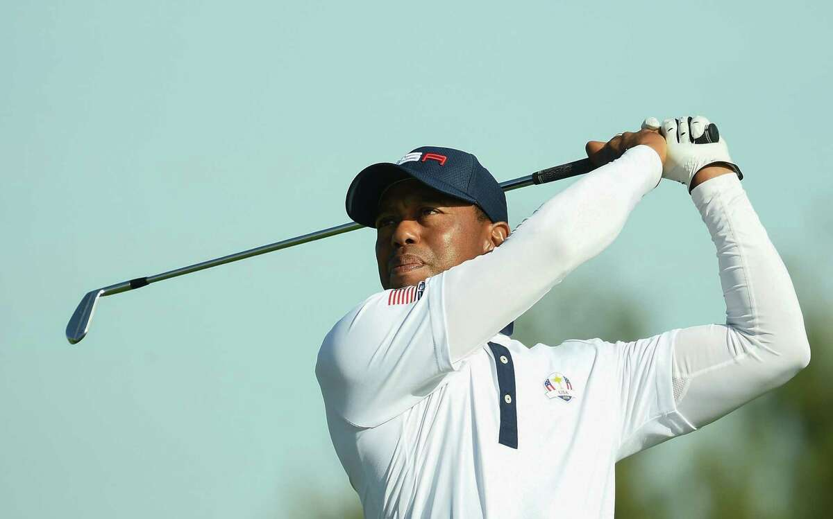 In this file photo taken on Sept. 29, 2018 US golfer Tiger Woods plays a tee shot during his foursomes match on the second day of the 42nd Ryder Cup at Le Golf National Course at Saint-Quentin-en-Yvelines, south-west of Paris. Tiger Woods will make his 2019 debut at next week's Farmers Insurance Open at Torrey Pines in California, tournament organizers confirmed on Jan. 16, 2019. (Photo by FRANCK FIFE / AFP)FRANCK FIFE/AFP/Getty Images)