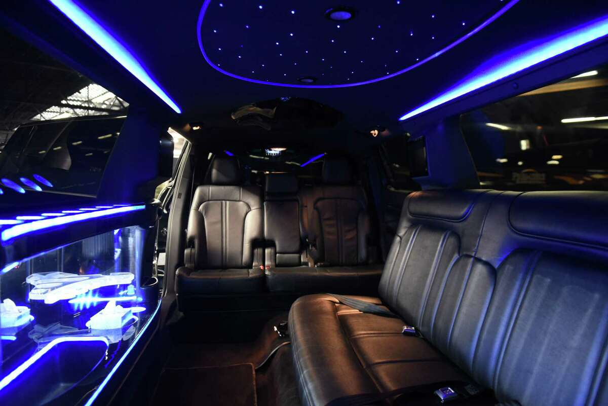 """Interior of a limousines at Premiere Transportation on Wednesday, Jan. 16, 2019, in Albany, N.Y. Gov. Andrew Cuomo has proposed a ban on """"stretched"""" or remanufactured limousines in New York, as well as sweeping measures to expand regulation of the limousine industry in response to October's fatal crash in Schoharie County that killed 20 people. (Will Waldron/Times Union)"""