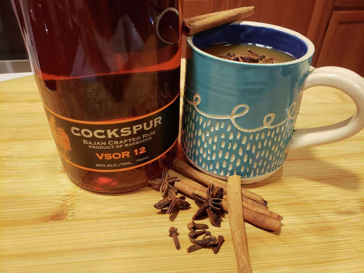 The classic winter warmer is hot cider mulled with cinnamon, clove, and allspice fortified with a shot of rum.