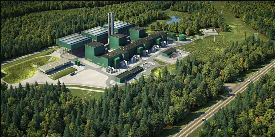 An artists rendering of the Cricket Valley Energy Center currently under construction in Dover, New York. Photo: Contributed Photo / Hearst Connecticut Media / The News-Times Contributed