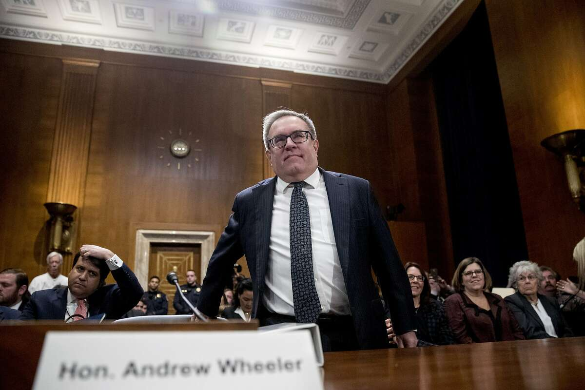 Andrew Wheeler arrives to testify at a Senate Environment and Public Works Committee hearing to be the administrator of the Environmental Protection Agency, on Capitol Hill in Washington, Wednesday, Jan. 16, 2019. (AP Photo/Andrew Harnik)