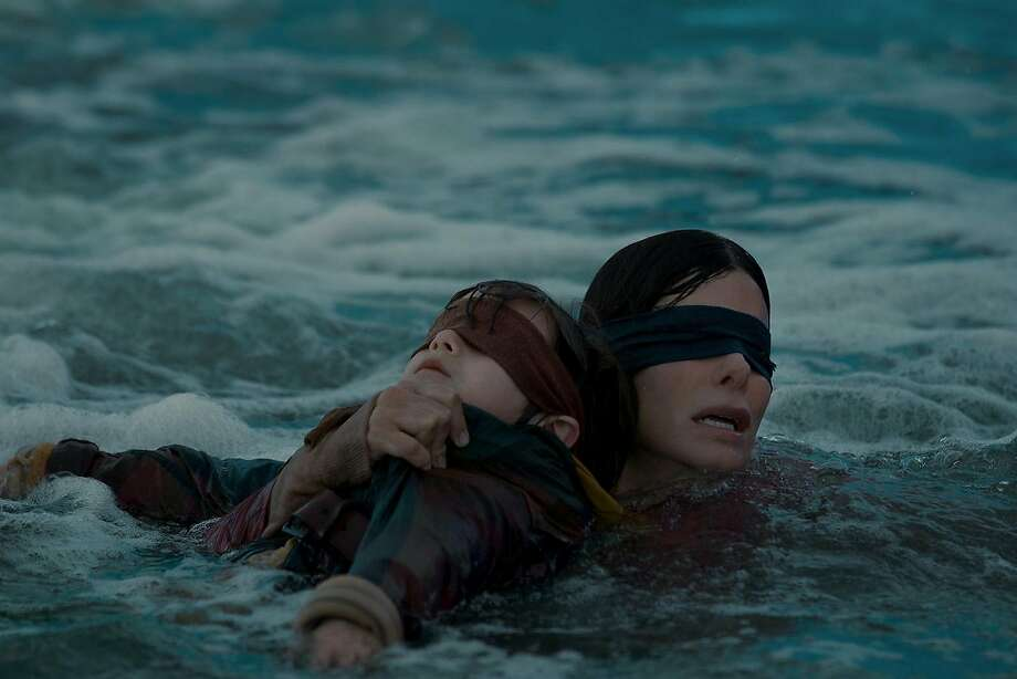 "Sandra Bullock's ""Bird Box"" has spawned YouTube pranks. Photo: Saeed Adyani / Netflix"