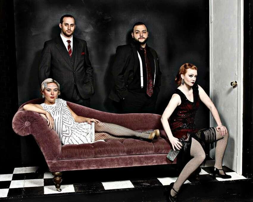 Adrienne Parker (Queenie), Keenon McCollum (Burrs), Francesco Archina (Black), Kelly Sienkiewicz (Kate) in