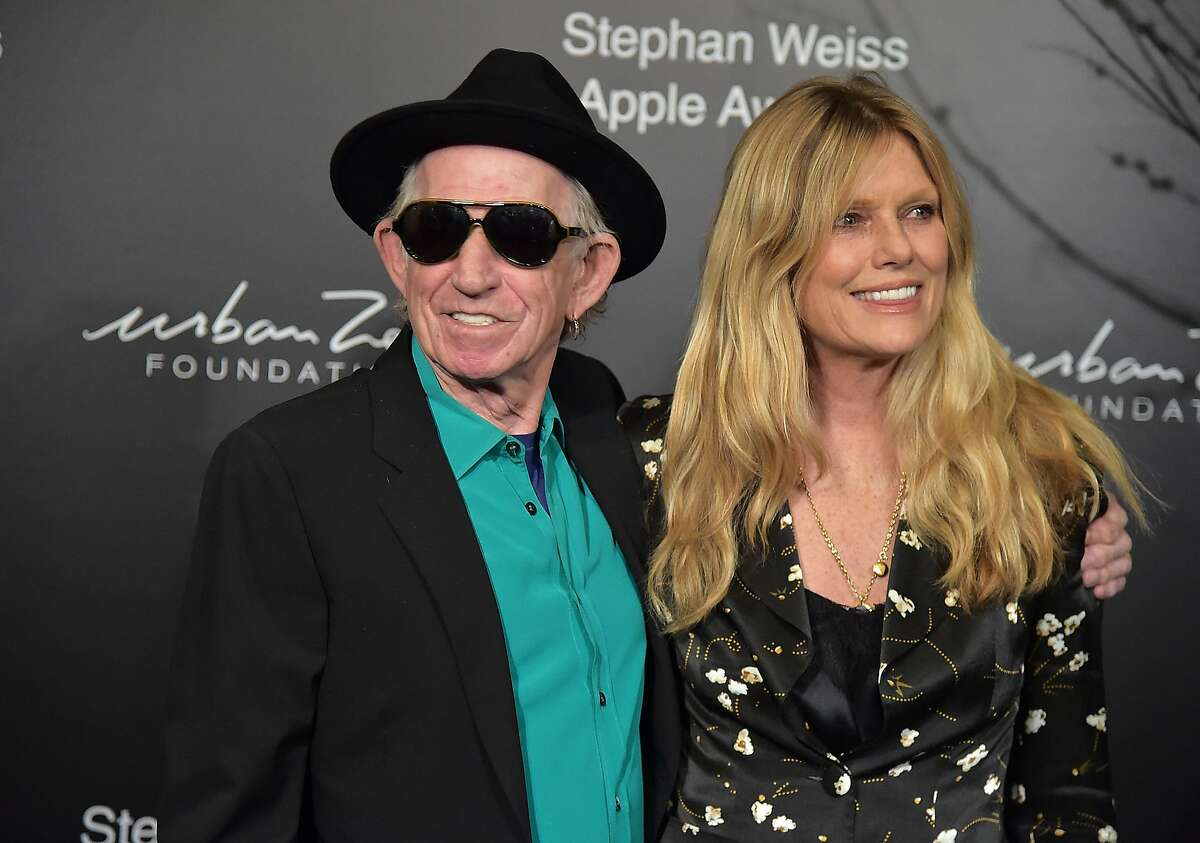Keith Richards and Patti Hansen attends the 2018 Stephan Weiss Apple Awards at Stephan Weiss Studio on October 24, 2018 in New York City. (Photo by Theo Wargo/Getty Images)