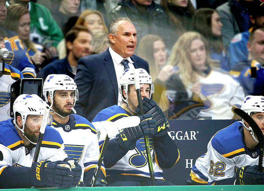 Blues interim head coach Craig Berube has the Blues playing the right way and thinking they could make a run to get into the playoffs. The interim coach has turned things around since replacing Mike Yeo in November and instilled a consistency in the Blues' game. Photo: AP Photo