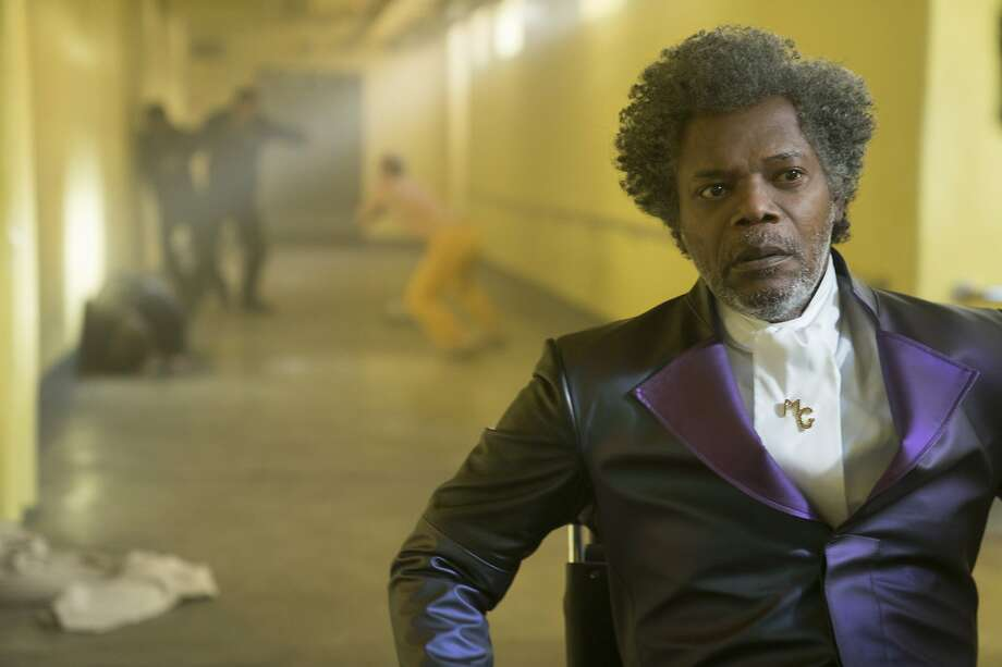 """This image released by Universal Pictures shows Samuel L. Jackson in a scene from M. Night Shyamalan's """"Glass."""" (Jessica Kourkounis/Universal Pictures via AP) Photo: Jessica Kourkounis, Associated Press"""