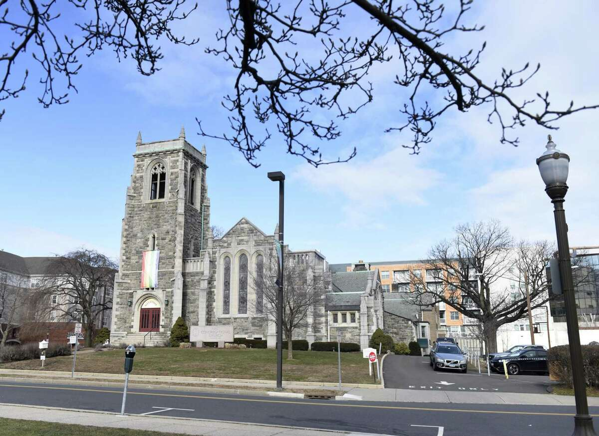 Police charged four people with breaking into First Congregational Church in Stamford, photographed on Wednesday, Jan. 16, 2019.