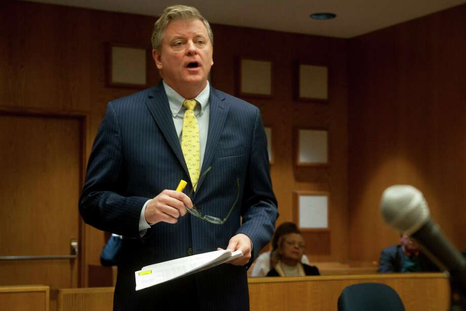 Deputy City Attorney John Bohannon Jr. speaks during a hearing challenging the results of the recent special primary in the 133rd City Council District in Bridgeport, Conn. Nov. 27, 2017. Photo: Ned Gerard / Hearst Connecticut Media / Connecticut Post