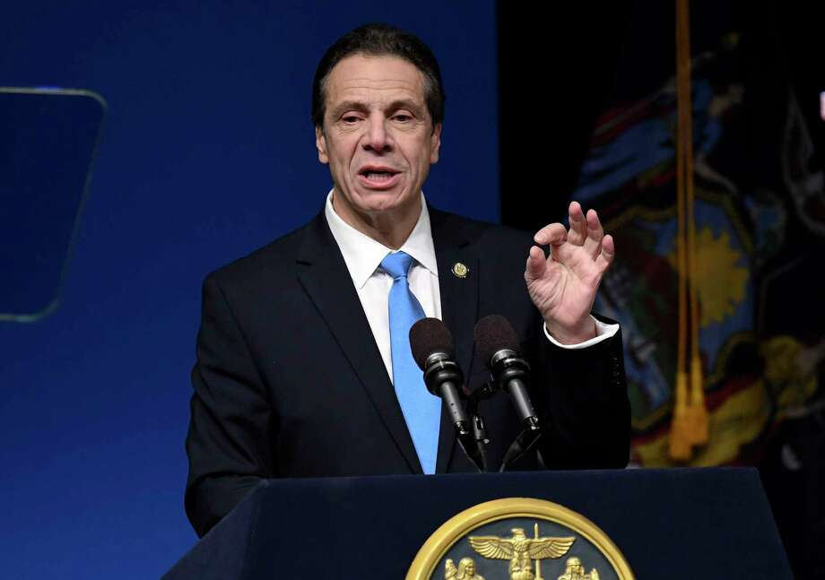 New York Gov. Andrew Cuomo delivers his State of the State address and executive budget proposal at the Hart Theatre on Tuesday, Jan. 15, 2019, in Albany, N.Y. (AP Photo/Hans Pennink) Photo: Hans Pennink / FR58980 AP