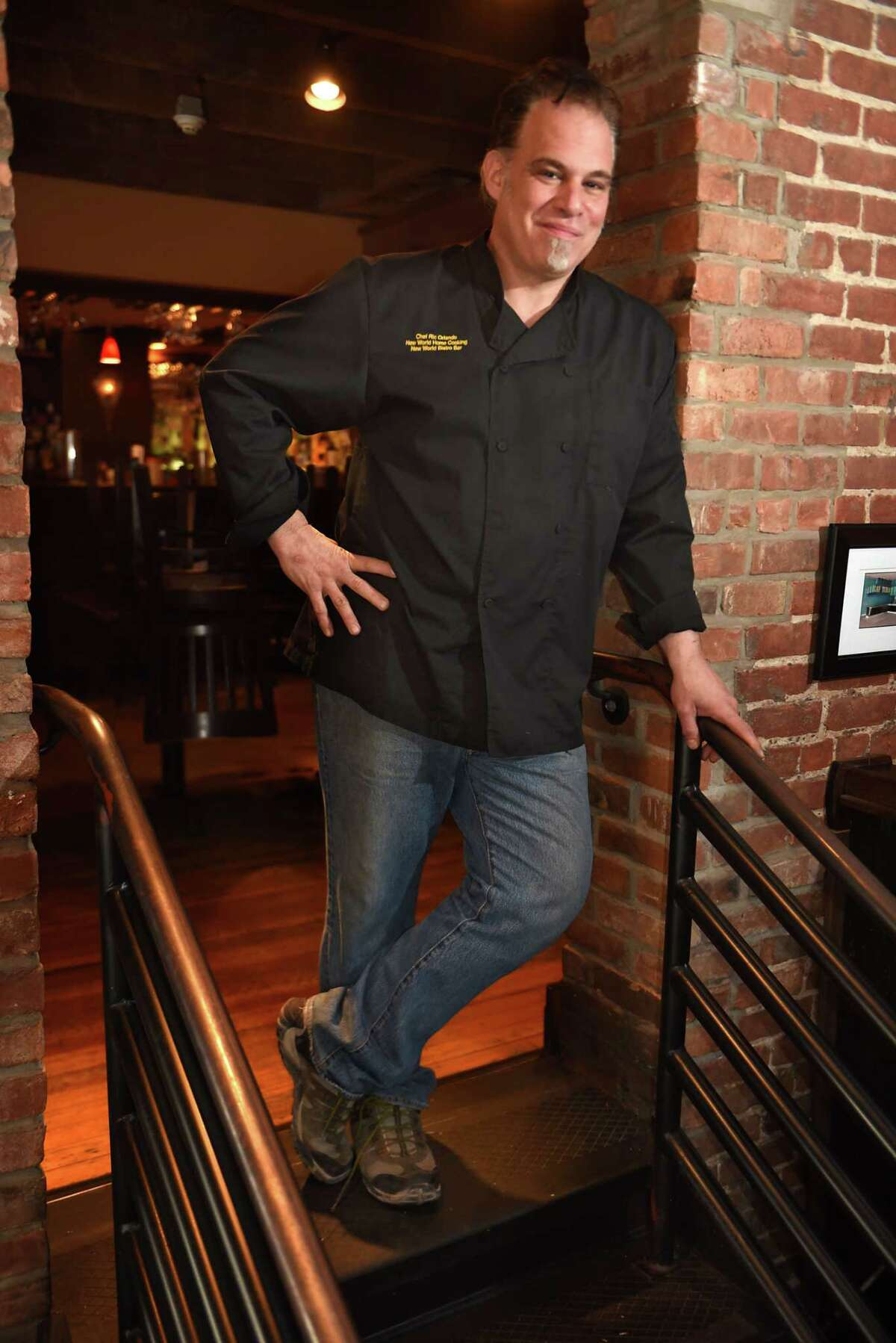 Executive Chef Ric Orlando poses in his restaurant New World Bistro Bar on Delaware Ave. on Tuesday, Feb. 20, 2018 in Albany, N.Y. (Lori Van Buren/Times Union)