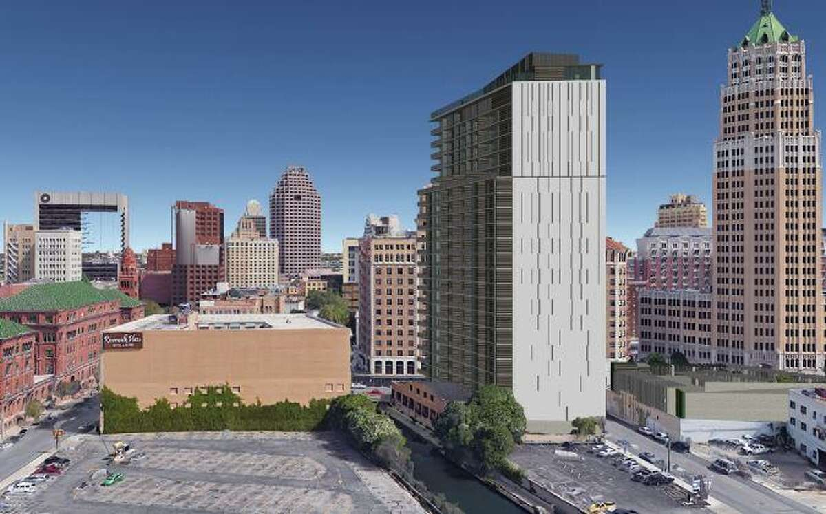 The city Historic Design and Review Commission gave initial approval Wednesday to a proposed 24-story residential and office tower at 112 Villita St. in downtown San Antonio.