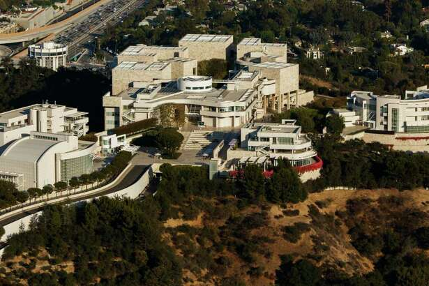 An aerial view of The Getty Center in Los Angeles.