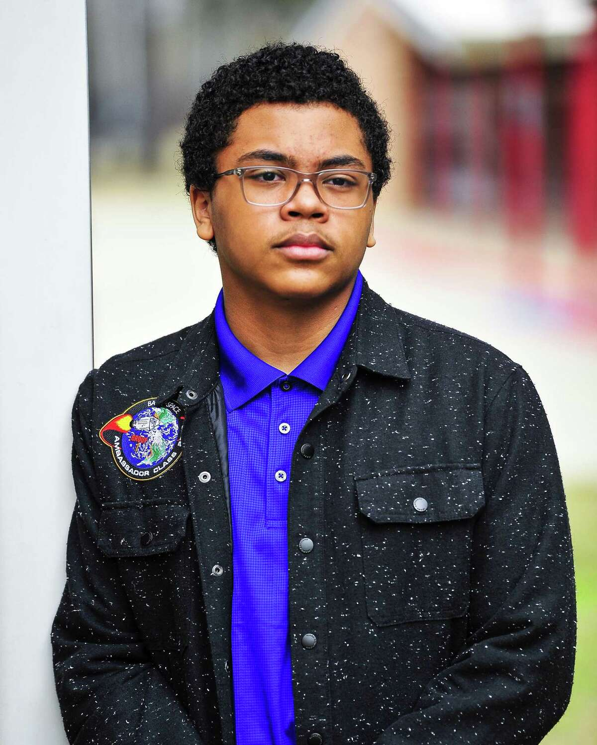 Gavin Syas, an eighth-grader at Marshall Middle School, poses for a photo on Wednesday after giving a presentation to his fellow students about the importance of STEM in schools. Syas is one of 25 ambassadors for the Back to Space program which aims to make STEM a focus in pop culture. Photo taken Wednesday 01/16/19.
