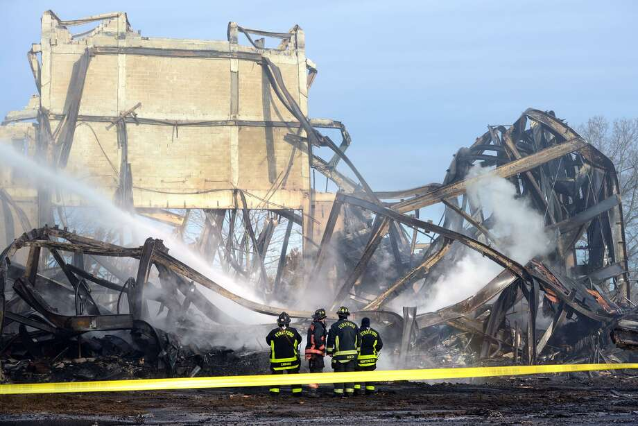The Shakespeare theater in Stratford, Conn. burned to the ground early Sunday morning, Jan. 13, 2019. Opened in 1955 as the American Shakespeare Festival Theatre, the building had stood vacant for many years. Photo: Ned Gerard / Hearst Connecticut Media / Connecticut Post
