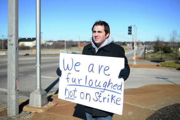 Rick Willenberg, a furloughed loan processor for the Department of Agricultures rural development program, during a protest of the partial government shutdown in St. Louis, Jan. 9. A reader bemoans the shutdown's effect on workers.