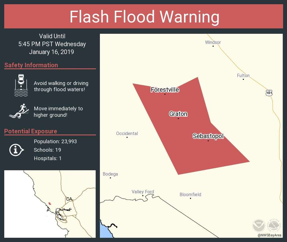 Graton California Map.Flash Flood Warning Issued For North Bay Sfgate
